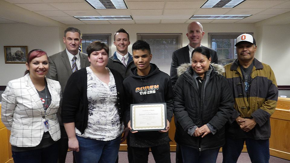 Jarrett Ucherkemur – Ogden High School Student of the Month