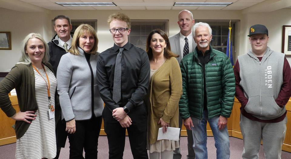 Malone Peterson - Ogden High, District Student of the Month