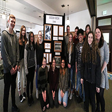 Ogden High School image of students at Union Station exhibit.